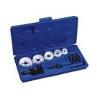 Hole Cutter Kit, Size 5, Carbide Tipped Cutter, 2 in. Hole, 1-1/2 in. Conduit/Pipe, Plastic Case