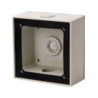 Junction Box Adapter, 4.7 in. H x 4.7 in. W x 2.0 in. D, Aluminum, Ivory
