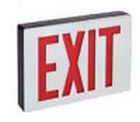 Exit Sign, 120-277 VAC, Stencil Face, Black Housing