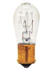Miniature Incandescent Bulb, 18W, S-8, S.C. Bay. (BA15s) Base, 12.8V, 2 in., 2000 hrs