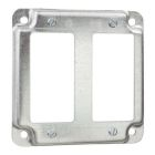 Square Box Surface Cover, 4-11/16 inch, Steel, 2-GFI Receptacle