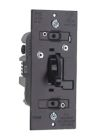 Wall Dimmer, Black, Slide, Preset On-Off, 700W