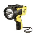 Spotlight, Alkaline Battery, 4 C Batteries Cells, LED Bulb, Polycarbonate Body/Lens, Yellow Body
