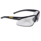 Safety Glasses, Black Frame, Clear Lens