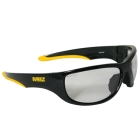 Safety Glasses, Black/Yellow Frame, Indoor/Outdoor Hardcoat Lens