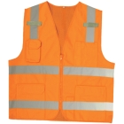 Class 2 Surveyors Vest, Orange, X-Large