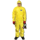 Chemical Spray Coveralls, Elastic Wrists, Hood and Boots, Large