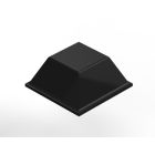 Bumper, 0.500 in. L x 0.500 in. W x 0.230 in. H, Polyurethane, Black, Tapered Square Shape, Adhesive Back Mount