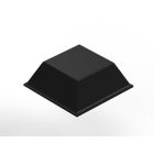 Bumper, 0.300 in. H, 0.810 in., Polyurethane, Black, Tapered Square Shape, Adhesive Back Mount