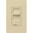 Wall Dimmer, 600W Capacity, 120V, Slide/Preset On-Off, 1-Pole/3-Way Operation, Ivory