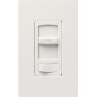 Wall Dimmer, 600W Capacity, 120V, Slide/Preset On-Off, 1-Pole/3-Way Operation, White