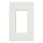 Wall Plate, Standard Size, 1 Gang, Decorator/GFCI, Polycarbonate, White
