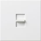 Wall Dimmer, 1500VA Capacity, 120V, Slide/Preset On-Off, 1-Pole/3-Way Operation, Ivory