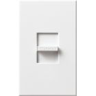 Wall Dimmer, 10-Lmp(magnetic) 8A(electronic) Capacity, 277V, Slide On-Off, 1-Pole Operation, White