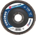 Abrasive Flap Disc, Type 29 Angled Wheel, 4.5 in. Dia, 13000 RPM, Alumina Zirconia, 60 Grit