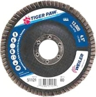Abrasive Flap Disc, Type 29 Angled Wheel, 4.5 in. Dia, 13000 RPM, Alumina Zirconia, 80 Grit