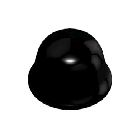 Bumper, 0.440 in. Dia x 0.200 in. H, Polyurethane, Black, Hemispherical Shape