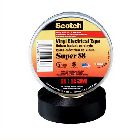 Electrical Tape, 36 yd. L x 1/2 in. W x 10.00 mil, Vinyl, Black, 600V, 105degC/220degF