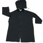 Rider Coat, 2X-Large Size, PVC/Polyester, Black, Corduroy-Lined, Hooded