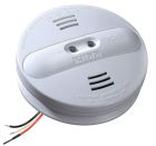 Hardwired Interconnect Smoke Alarm, 120VAC, 9V Battery, 85dB at 10 ft Horn, 24