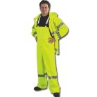 Rain Jacket, 44 to 46 in., PVC Coated Polyester, Lime, Hook and Loop Closure
