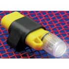 Hat Light, AAA Battery, 2 Cells, Xenon Bulb, Plastic Body/Polycarbonate Lens, Black/Yellow, 0.75 in. dia