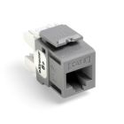 UTP Connector, IDC-Press Fit Connection, 8-Wire RJ45 Configuration, Cat 6, Gray