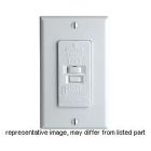 Ground Fault Blank Face Switch, 120V, 20A, 2P, 3W, Thermoplastic Nylon, Ivory