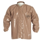 Disposable Jacket, Hoodless, X-Large, Polypropylene Outer, Tan, Hook-and-Loop