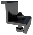 End Clamp, 1.50 in. H x 1.34 in. W x 1.37 in. D, Black Anodized Aluminum, For Pitched Roof