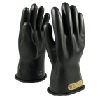 Protective Gloves, Size 9, Natural Rubber, Black, 11.00 in. L, Straight Cuff, 500 VAC/750 VDC
