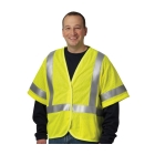 Safety Vest, Lime Yellow, Flame Resistant, Large, Modacrylic/Aramid Blend Mesh Fabric