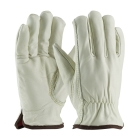 Unisex Insulated Driver Gloves, Medium, White, Red Liner, Slip-On Cuff, Thermal Lining