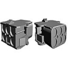 Universal MATE-N-LOK 1-480705-0 Receptacle Connector, 600V AC, 36A, 6P, 2 Row, Free-Hanging or Panel Mount