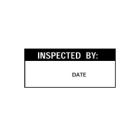 Write-On Calibration, Inspected By: _Date, 0.62 x 1.50 in., White/Black, Rectangular, Vinyl Cloth