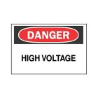 Admittance Sign, Danger - High Voltage, Black/Red Legend, Fiberglass, 10.00 in. L X 7 in. H