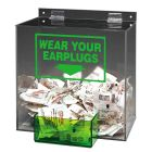 Earplug Dispenser, 13 in. H x 12 in. W x 8 in. D, Acrylic/Clear
