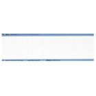 Write-On Calibration, Blank, 2.25 x 1.00 in., White/Blue, Rectangular, 9 per Card Markers, Vinyl Cloth