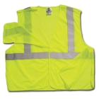 Breakaway Vest, Large/X-Large, Lime, Mesh, Hook and Loop Front Closure, (1) Inside Pockets