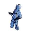 Coverall, XX-Large, Blue, Dry Particulates/Liquid, Spunbond-Film-SMS Laminate, 2.1 oz