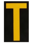 Reflective Numbers and Letters, Engineer Grade Reflective Sheeting, Yellow Legend, T Legend