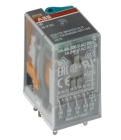 Interface Relay with LED, 120VAC Coil, 14-Blade Terminal, 250VAC, 6A, SPDT, Plug-In Base Mount