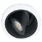 Specular Reflector and Baffles, 50-75W Low Voltage, 7.25 in., Black/White, 12V Transformer