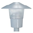 Post-Top Decorative Luminaire, HPS Lamp, 100W, 120V, HPF, Reac. Ballast, Die Cast Aluminum Gray