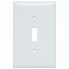 Toggle Switch Plate White Thermoset (1) Toggle Switch