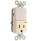 Combination Night Light/Receptacle, Duplex Tamper Resistant, 15A 125V Receptacle, 3W