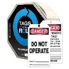 Write On Danger Tag Cardstock Black, Red and White Danger-Do Not Operate. Do Not Remove This Tag - 65405CTP
