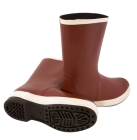 Snugleg Boot, Hand Layered, Steel Shank, 12.50 in., Size 10, Brick Red/Brown, Chevron Outsole