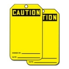 Hazard Sign Cardstock Caution Signed By Date - 88756CTP