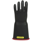 Linemen Gloves, Size 9, Natural Rubber, Red Inner, Black Outer, Bell Cuff, 18.00 in. L